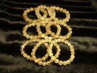 まとめ売り 金針水晶ゴールドルチルブレスレットセット 総重量334g