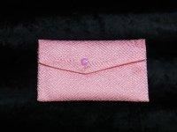 天然石ブレスレット・ネックレスを収納する御念珠袋 高級感溢れるピンク柄