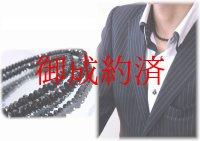 「勝負運数珠」ダイヤの輝き・煌めくブラックスピネル4ミリネックレス