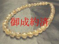 現品一点物!!ルチルクォーツ12ミリ数珠ネックレス!!