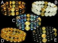セミオーダー!10パターンから選べるルチルMIX天然石数珠ブレスレット