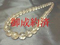 現品一点物!!金針水晶ルチルクォーツ数珠ネックレス Rn-2