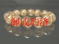 【写真現物】 タイガールチルクォーツブレスレット 金針水晶数珠 15ミリ 71g Tir5 金運 タイガーアイ レディースメンズ パワーストーン ルチル 開運 1点物