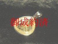 写真現品一点物 ゴールドルチルペンダントトップ KGR3 金針水晶 シルバー925 天然石 パワーストーン 人気 ネックレス ルチルクォーツ
