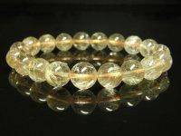 現品一点物お試し価格 ゴールドルチルブレスレット 金針水晶天然石数珠 11-12ミリ RK23 開運招来 レディースメンズ パワーストーン ルチル 最強金運 1点物 目玉 ギフト 贈り物