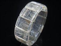 現品一点物 シルバールチル クォーツ バングル 銀針水晶 数珠 SVR1 85g 最強金運 ブレスレット レディース メンズ パワーストーン 開運招来 1点物 お年玉 プレゼント お正月 ギフト